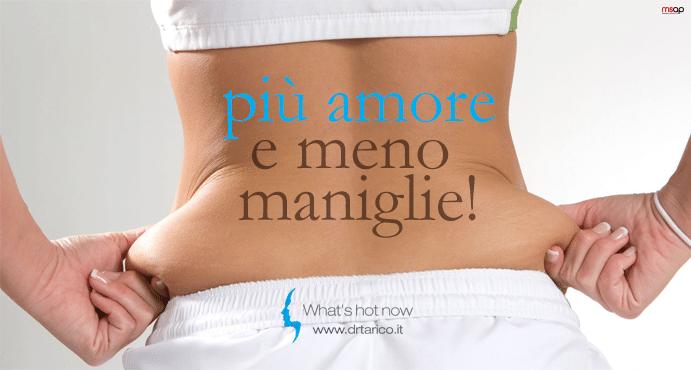 Le Maniglie dell'amore. Come eliminare quel grasso in eccesso… dal nome romantico.